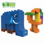 BiOBUDDi - Jungle Elephant & Toucan - Eco Friendly Block Set - 27 Blocks